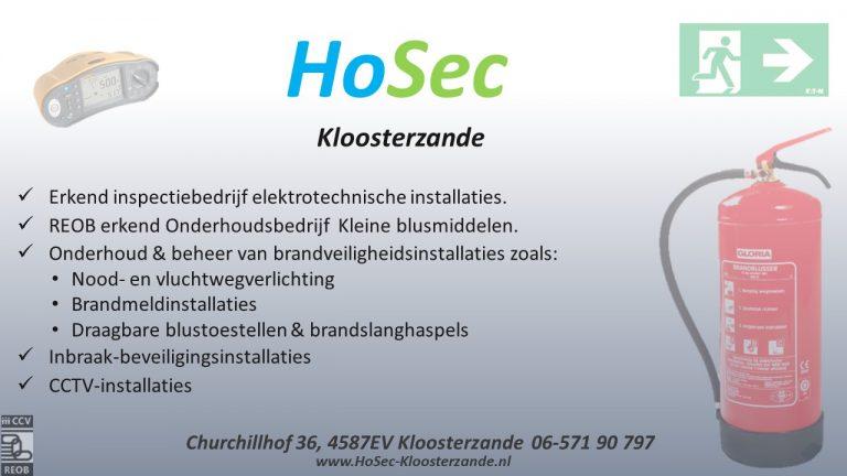 HoSec-Kloosterzande Advertentie 2019