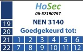 NEN-3140 HoSec-Kloosterzande Goedgekeurd tot