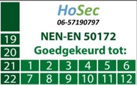 NEN-EN 50172 HoSec-Kloosterzande Goedgekeurd tot