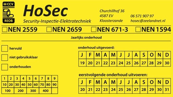 Sticker -onderhoud-Hosec-Kloosterzande